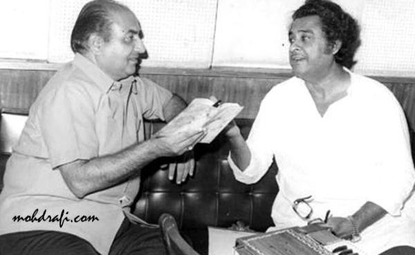 Mohd Rafi with Kishore Kumar