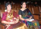 Sharda and Ruhi Khan at the Kalamandir Auditorium.JPG