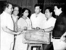 Rafi Sahab with SJ, Asha, Hasrat, Shailendra