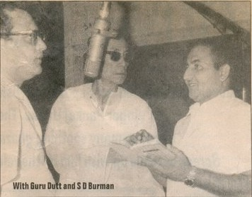 Mohd Rafi with S.D.Burman and Guru Dutt