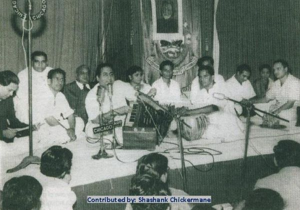 Mohdrafi with Mukesh, Talat Mohd and others in a stage concert