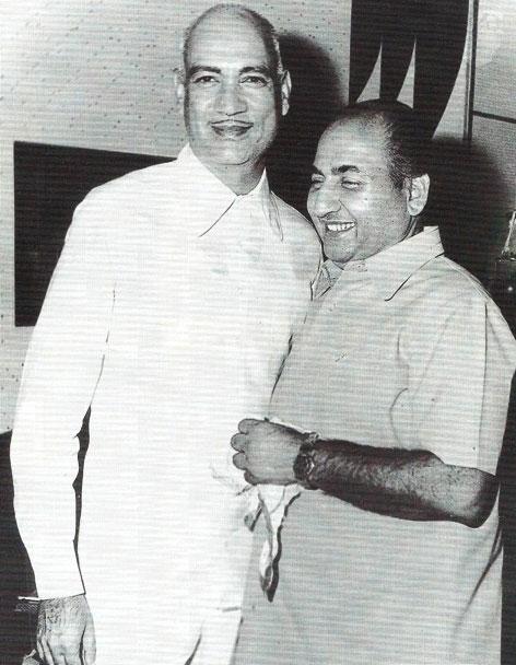 Mohd Rafi with O.P.Nayyar
