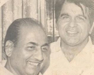 Mohd Rafi with Dilip Kumar