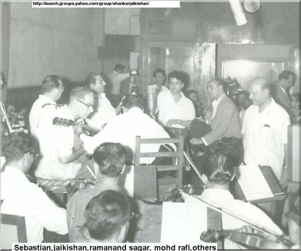 Mohd Rafi with Jaikishan and Ramanand Sagar