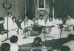 Mohd Rafi with Mukesh, Talat Mohd and others