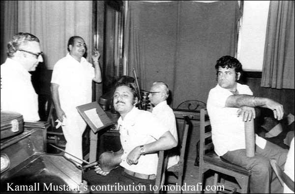 Mohd Rafi Sahab in an recording
