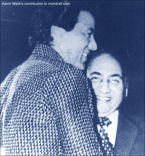 Mohd Rafi with Dharamender