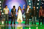 John Abraham, Harshit, Bipasha Basu, Boman Irani on Star Voice of India.jpg