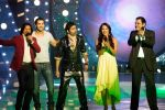 Shaan, John Abraham, Harshit, Bipasha Basu, Boman Irani on Star Voice of India.jpg