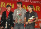 Harsh Nagar with cricketers Salman Batt and Sohail Tanvir.JPG