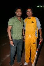 Babul Supriyo, Shaan at the Cricket match for the music industry in the playground of Ritumbara College on Jan 30th 2008 (16).jpg