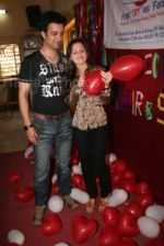 Aamir Ali and Sanjeeda spend their valentine with orphan kids of Muskan orphanage on Feb 13th 2008 (12).jpg