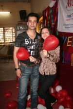 Aamir Ali and Sanjeeda spend their valentine with orphan kids of Muskan orphanage on Feb 13th 2008 (14).jpg