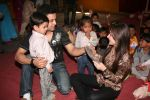 Aamir Ali and Sanjeeda spend their valentine with orphan kids of Muskan orphanage on Feb 13th 2008 (9).jpg