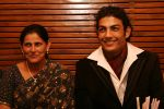 Most desirable man of India with Mother Beermati Rana - Mr. India 2008 Pravesh in Delhi.jpg