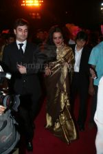 Rekha at Chief Minister Vilasrao Deshmukh son, Amit_s wedding with TV actress Aditi Pratap Ghorpade in Mahalaxmi Race Course on 29th feb 2008 (7).jpg