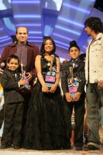 Anamika Chaudhary, Rohanpreet Singh, Tanmay Chaturvedi, Suresh Wadkar, Sonu Nigam at the finals of Lil Champs on 1st March 2008 (2).jpg