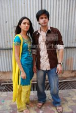 Aneesha Kapoor,Bhuvnesh at the location of Dahej Serial on 9Xon March 13th 2008(28).jpg