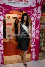 Femina Miss India contestants promote Liberty footwear in Inorbit Mall on March 27th 2008(15).jpg