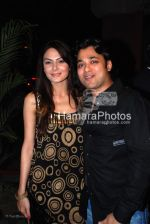 Anchal Kumar with mittal of people group at Neeta Lulla_s party in Henry Tham on 29th 2008(1).jpg