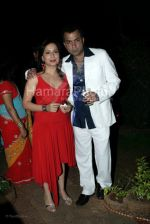 Nitin Bali with wife at Indraneil Sengupta and Barkha Bisht_s wedding bash in Kino_s cottage on March 30th 2008(28).jpg