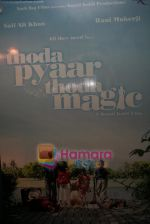 Wallpaper of Thoda Pyaar Thoda Magic in Yashraj Studios on April 23rd 2008 (16).JPG