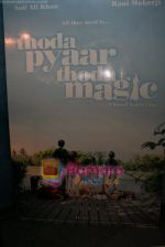 Wallpaper of Thoda Pyaar Thoda Magic in Yashraj Studios on April 23rd 2008 (2).JPG