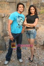 Sahil Khan and Tanushree Dutta on the sets of Movie Rama - The Saviour in Filmcity Studio, Goregaon, Mumbai on April 25th 2008 (12).jpg