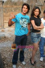 Sahil Khan and Tanushree Dutta on the sets of Movie Rama - The Saviour in Filmcity Studio, Goregaon, Mumbai on April 25th 2008 (3).jpg