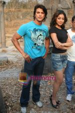 Sahil Khan and Tanushree Dutta on the sets of Movie Rama - The Saviour in Filmcity Studio, Goregaon, Mumbai on April 25th 2008 (5).jpg