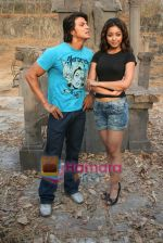 Sahil Khan and Tanushree Dutta on the sets of Movie Rama - The Saviour in Filmcity Studio, Goregaon, Mumbai on April 25th 2008 (8).jpg