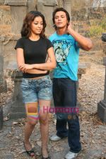 Sahil Khan and Tanushree Dutta on the sets of Movie Rama - The Saviour in Filmcity Studio, Goregaon, Mumbai on April 25th 2008 (9).jpg