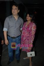 Sajid Nadiadwala with wife Barkha at Shefali Shah_s bash in   Vie Lounge on May 7th 2008(63).JPG