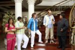 Deepshika, Satish Shah, Razzak Khan, Anupam Kher and Satish Kaushik in a still from the movie Dhoom Dhadaka.jpg