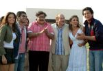 Shama, Sameer, Satish Shah, Anupam Kher, Aarti and Shaad in a still from the movie Dhoom Dhadaka.jpg