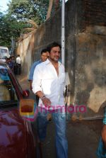 Mahesh Manjrekar at Jhamu Sugandh funeral in Parle, Mumbai on May 26th 2008(3).JPG