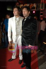 Adhyayan Suman with Shekhar Suman at the premiere of Haal E Dil in Cinemax on 19th June 2008(3).JPG