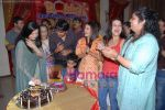 Anisha Kapoor, Bhuvnesh Mam, Muskaan Mihani & Deepshikha at the completion party of 100 episodes of Dahej and Muskan_s birthday bash in Filmalaya on June 26th 2008(4).JPG