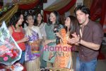 Anisha Kapoor, Bhuvnesh Mam, Muskaan Mihani & Deepshikha at the completion party of 100 episodes of Dahej and Muskan_s birthday bash in Filmalaya on June 26th 2008(5).JPG