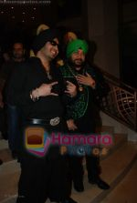 Mika Singh, Daler Mehndi at the music launch of Singh is King in Enigma on June 26th 2008(5).JPG