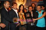 Salman Khan, Katrina Kaif, Pritam Chakraborty at the music launch of Singh is King in Enigma on June 26th 2008.JPG