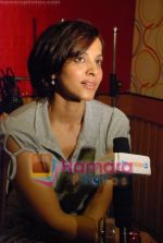 Mansi Scott at the recording of Mansi Scott_s debut album with Mika Singh at MEET Brothers recording studio on 27th June 2008 (21).JPG