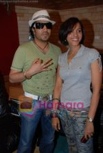 Mansi Scott, Mika Singh at the recording of Mansi Scott_s debut album with Mika Singh at MEET Brothers recording studio on 27th June 2008 (14).JPG