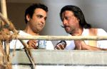 Sahil Chadha and Jackie Shroff in a still from the movie Thodi Life Thoda Magic.jpg