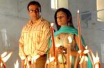 Sahil Chadha and Meera Vasudevan in a still from the movie Thodi Life Thoda Magic.jpg
