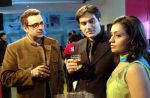 Sahil Chadha, Arbaaz Khan and Meera Vasudevan in a still from the movie Thodi Life Thoda Magic.jpg