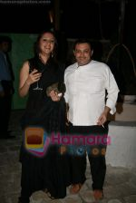 Ishita Arun and Chef Max at Olive launch on July 8th 2008.JPG
