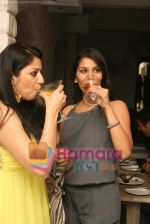 Sabina Singh with Sophie Choudhry at Olive launch on July 8th 2008.JPG