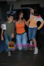 Pooja Bedi with Kids at the Kung Fu Panda premiere in Fame on July 9th 2008(2).JPG