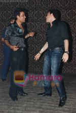 Ravi Kishan with Aditya Pancholi at Ravi Kishan_s birthday bash in D Ultimate Club on 17th July 2008(1).JPG